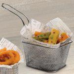 Snackholder für frittierte Snacks mit Wachspapier