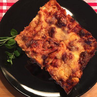 Lasagne al forno fertig gebacken
