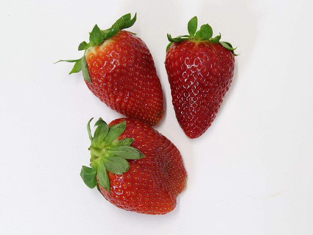 Erdbeeren nachher