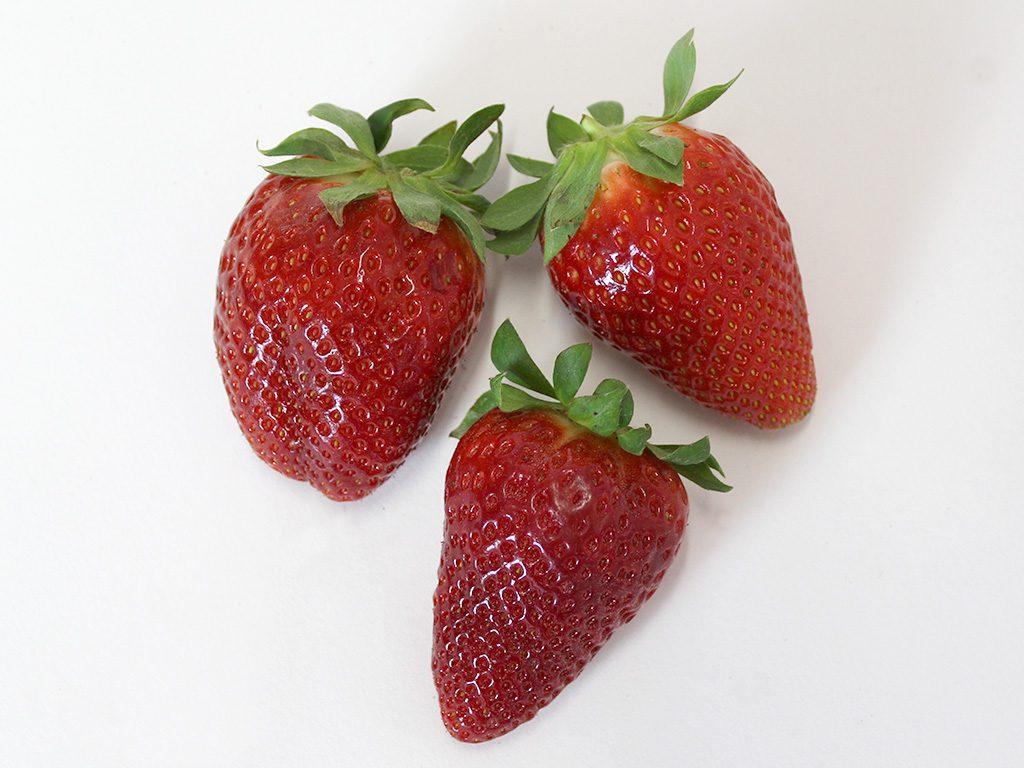 Erdbeeren vorher
