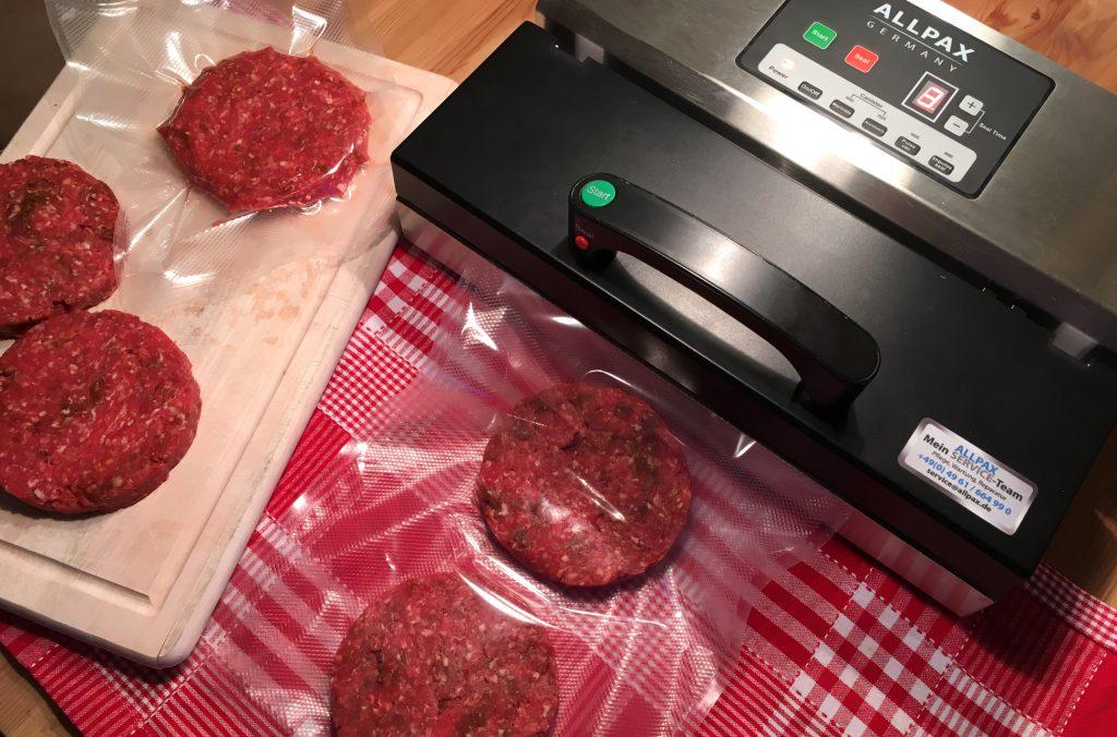 Hamburger Patties vakuumieren
