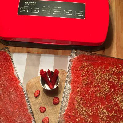 Erdbeerleder aus dem Dörrautomat