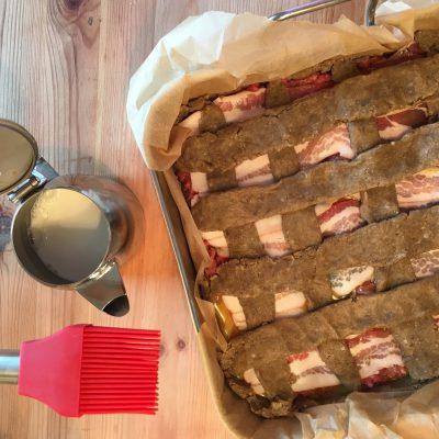 Zubereitung des American Bacon Pie