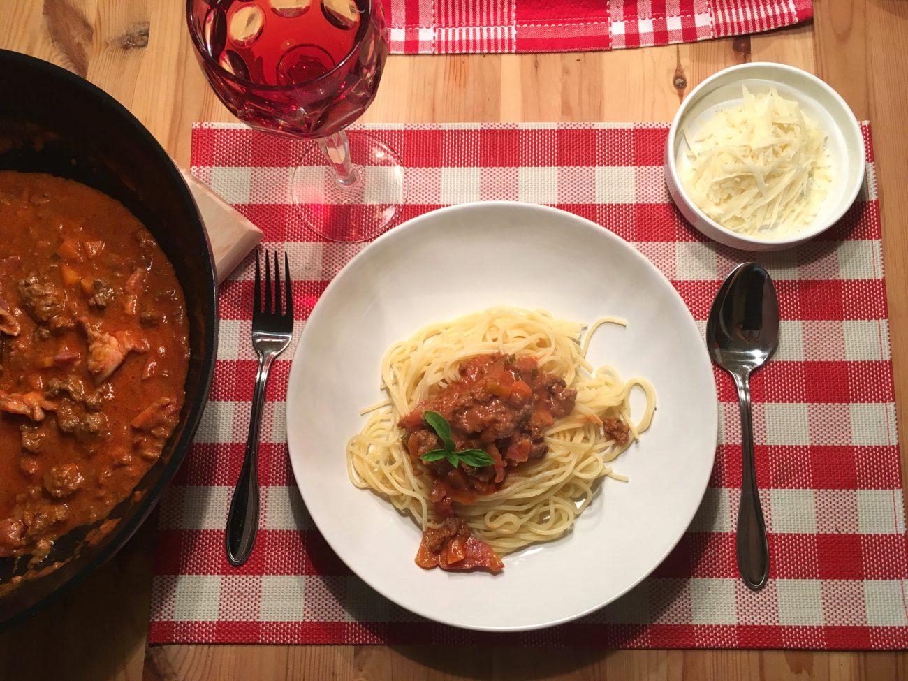 Spaghetti mit Ragout alla Bolognese