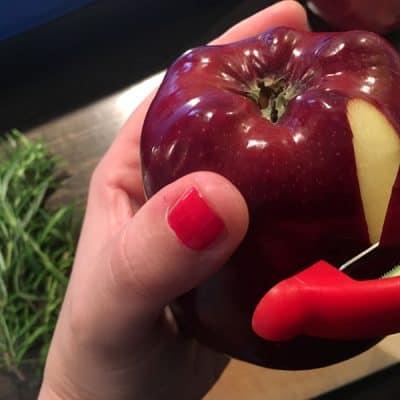 Rosmarin Äpfel Sous Vide