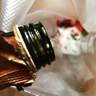 Prosecco-Erdbeerpüree Sous Vide
