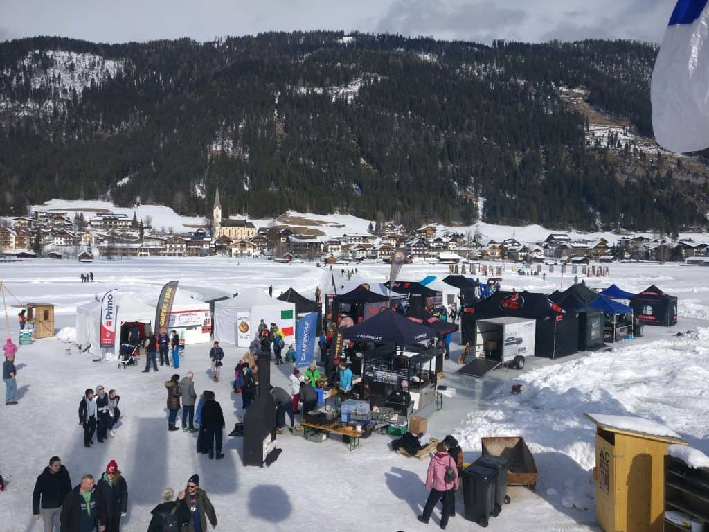 Meat Smoke and Beer BBQ Competition on Ice