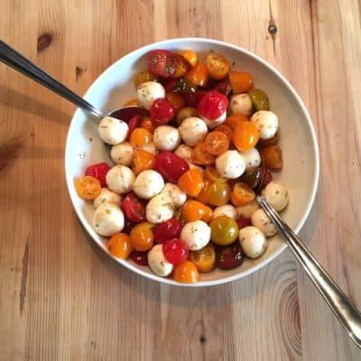 Schneller Tomaten-Mozzarella-Salat