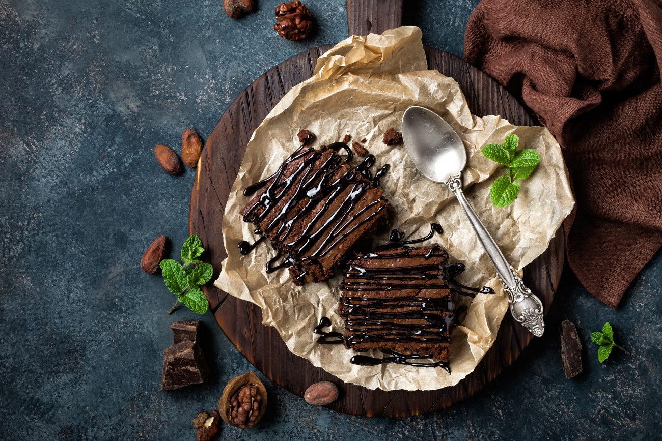Vegane Brownies – saftig und schokoladig