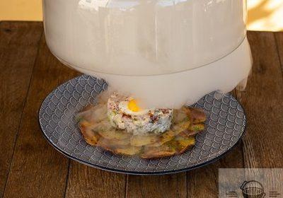 Matjestartar auf Kartoffelcarpaccio