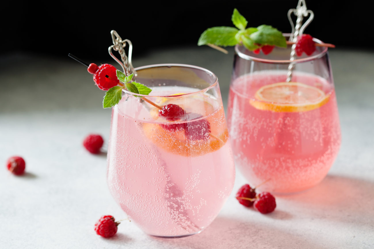 Sous Vide Raspberry Cocktail