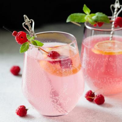 Sous Vide Raspberry Cocktail
