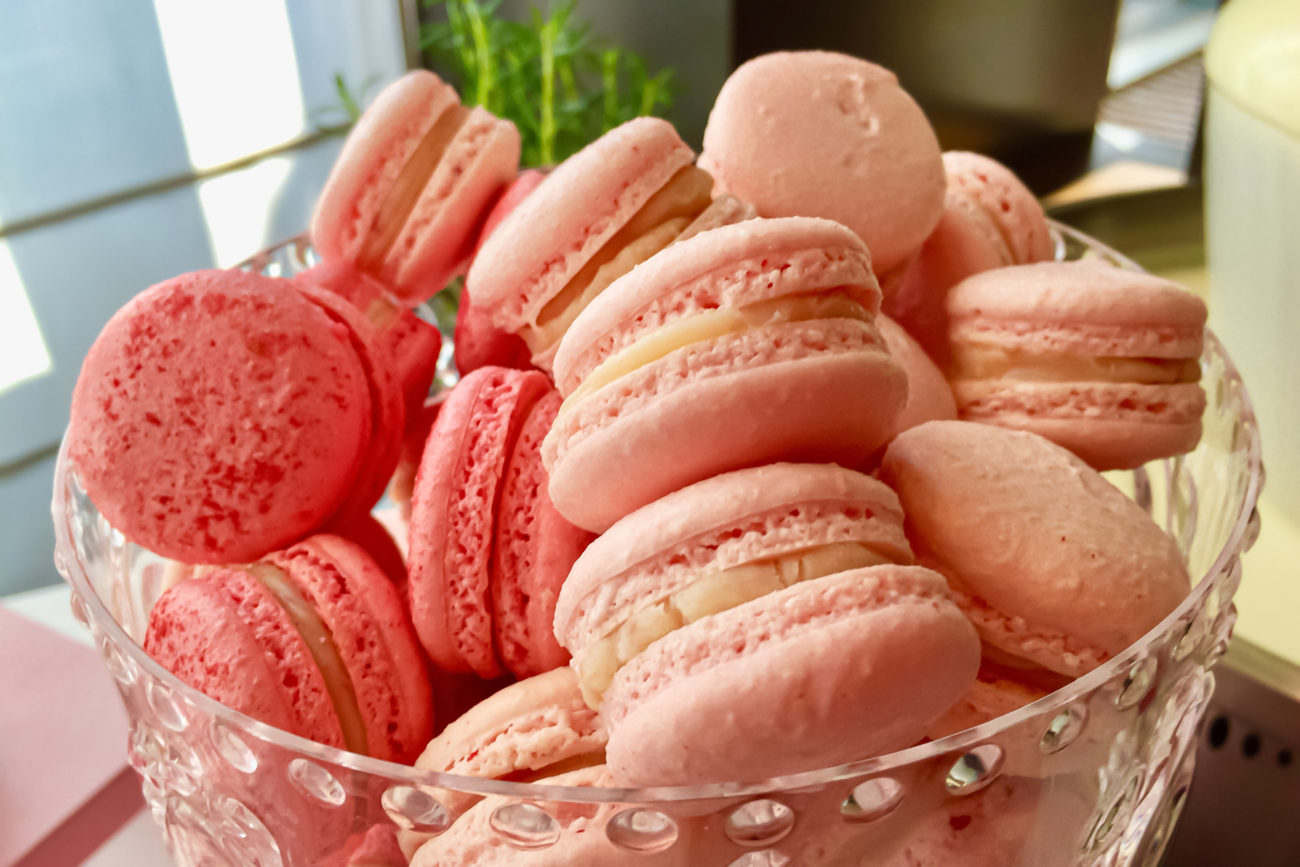 Erdbeer-Cheesecake-Macarons